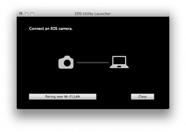 Connect Canon 6d Mark ii to computer - start pairing