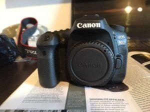 Canon EOS 90D DSLR Camera with a Flip Screen
