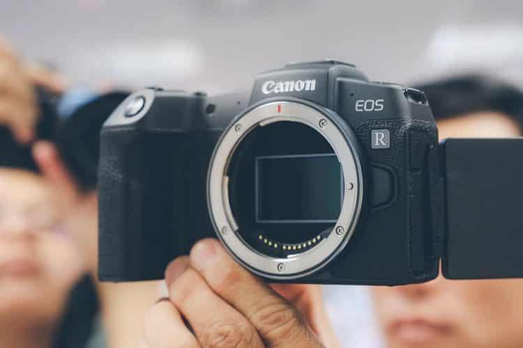 Canon camera with flip screen - EOS R
