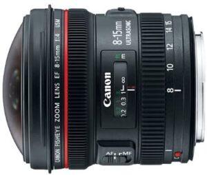 Best Canon Fisheye Lenses - Canon EF 8-15mm
