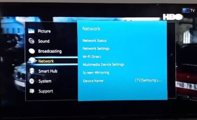 How to connect Samsung smart TV to Wi-Fi without adapter