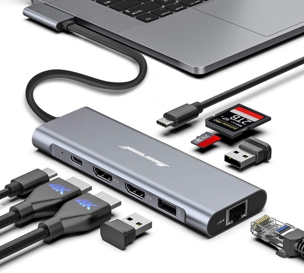 MacBook Pro Docking Station USB C - Hiearcook Macbook Docking Station