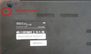 Factory Reset Chromebook Without Password - Recovery button