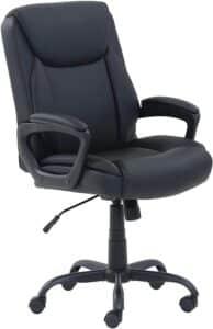 Equipment Needed for Virtual Classroom - Amazon Basics Classic PU-Padded Office Chair