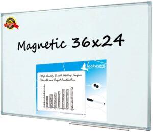 Virtual Classroom Equipment -Lockways 36 x 24 Inch Whiteboard