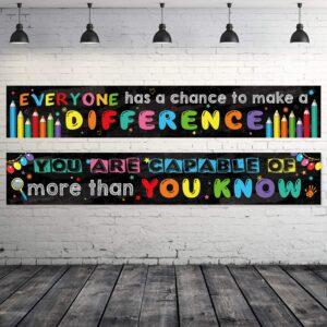 Virtual Classroom Equipment - Motivational Classroom Banner Poster