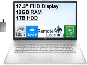 HP Laptop for Video Editing - HP 17.3 FHD Model 2021