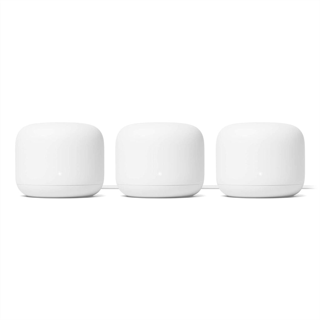 Best Mesh Routers - Google Nest WiFi Router 3 Pack