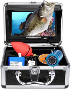 Portable Underwater Fishing Camera with Depth Temperature Display